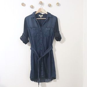 Cloth & Stone Chambray Shirt Dress Button Up | S